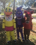 Five Nights at Freddy's Characters Homemade Costume