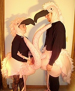 Homemade Halloween costume for couple - Flamingos