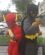 Flash and Batman Homemade Costume