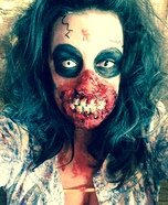 Flesh Eating Zombie Homemade Costume