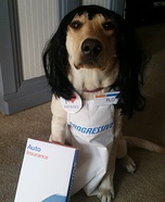 Flo Dog Homemade Costume