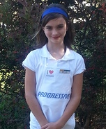 Flo from Progressive Homemade Costume