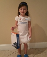 Flo from Progressive Toddler Homemade Costume