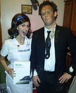 Coolest couples Halloween costumes - Flo & Mayhem