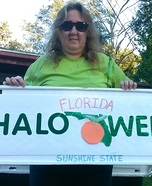 Florida License Plate/Tag Costume