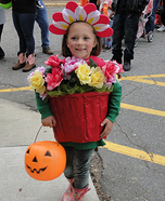 Flower in a Pot Homemade Costume