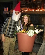 Flower Pot & Gnome Homemade Costume