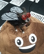 Fly on Poop Homemade Costume