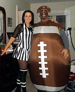 Football and Referee Couples Costume