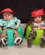 Forest Gump and Lt. Dan Baby Homemade Costumes