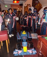 Formula One Car and Pit Crew Homemade Costume