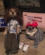 Forrest and Lieutenant Dan Dogs Homemade Costume