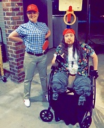 Forrest Gump and Lieutenant Dan Homemade Costume