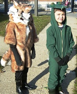 Fox and Gator Homemade Costume