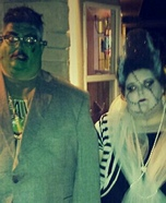 Frankenstein and his Bride Homemade Costume