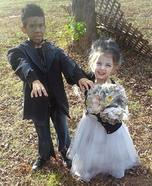 Frankenstein and his Bride Children Homemade Costume