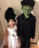Frankenstein & his Bride Homemade Costume