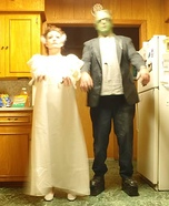 Frankenstein & His Bride Couples Costume