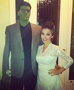 Frankenstein & the Bride of Frankenstein Homemade Costumes