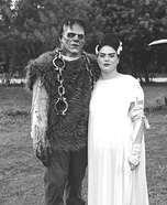 Frankenstien and His Bride Homemade Costume
