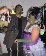 Frankenstein & his Bride Couple Costume