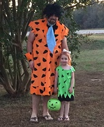 Fred and Pebbles Homemade Costume