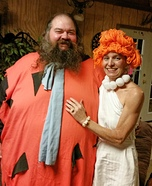 Fred and Wilma Flintstone Homemade Costume