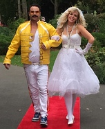 Freddie Mercury and Madonna Couple Costume