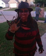 Women's DIY Freddy Krueger Costume