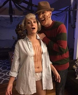 Freddy Krueger and his first victim, Tina Gray Homemade Costume