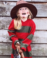 Freddy Kruger Girl Homemade Costume