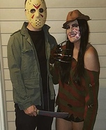 Freddy loves Jason Homemade Costume