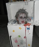 Frozen Guy in a Fridge Costume