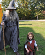 Frodo and Gandalf Homemade Costume