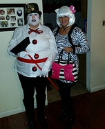 Frosty the Snowman Homemade Costume
