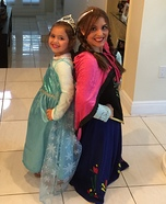 Frozen Elsa and Anna Homemade Costumes