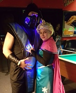 Frozen Elsa and Sub Zero Couple Homemade Costume