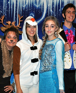 Frozen Family Homemade Costume