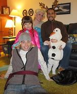Frozen Family Homemade Costume