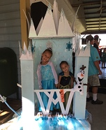 Frozen Ice Castle - Elsa & Anna Homemade Costumes