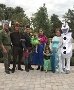 Frozen in Florida Homemade Costume