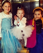 Frozen Kids Homemade Costume