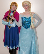 Frozen Sisters Anna and Elsa Costumes