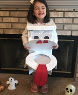Funny Toilet Homemade Costume