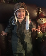 Cute baby costume ideas: Future Air Force Pilot Homemade Costume