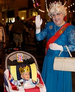Future King and Great Grandma Homemade Costume