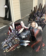 Game of Thrones Dragon and Baby John Snow Homemade Costume