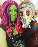 Gamora and Star-Lord Homemade Costume