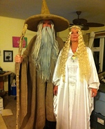 Gandalf and Galadriel Couple's Costume