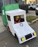 Coolest DIY Garbage Truck Costume